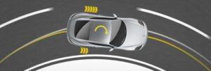 Carro fazendo curva, exemplificando a vetorização de torque