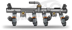 ilustração tubo de distribuição de combustível