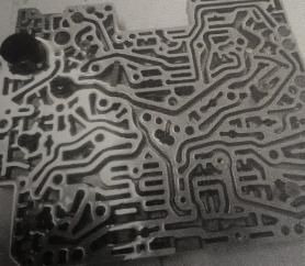 Placa do sistema hidráulico do câmbio automático